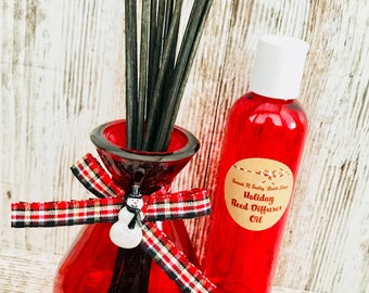 Holiday Glass Reed Diffuser Gift Set