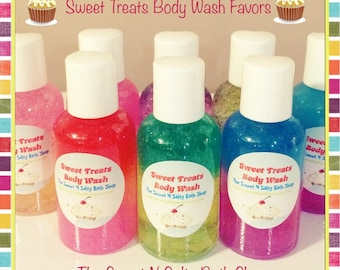 10 Sweet Treats Bath/Shower Body Wash Party Favors-Many Yummy Scents to Choose from!!