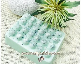 Cucumber Mint Exfoliating Shea Butter and Aloe Vera Soap Scrub