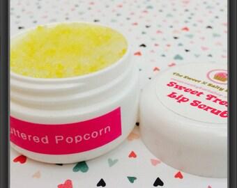 Buttered Popcorn Flavored  Lip Scrub