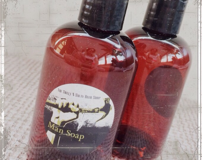 Man Soap/Shower Gel/Choose Your Scent/Bacon/Fresh Outdoors/Amber Linen/Stud