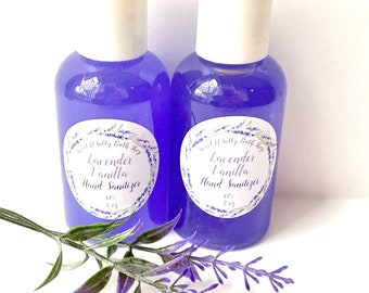 Lavender Vanilla Travel Size Hand Sanitizer