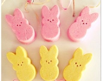 Pink Sugar & Marshmallow Scented Bunny Bath Fizzies Set of 2