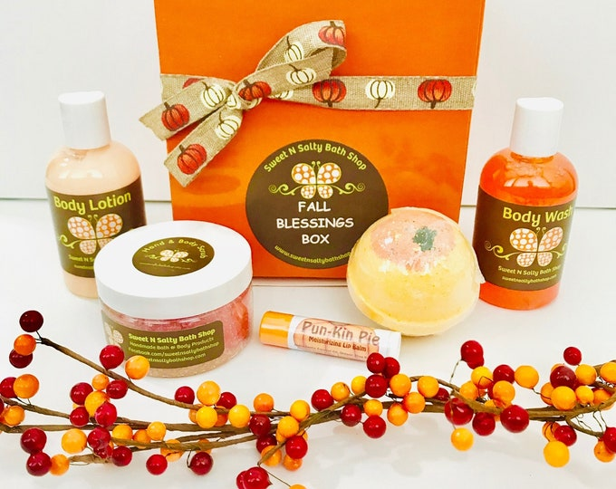 Featured listing image: Fall Blessings Bath & Body Box