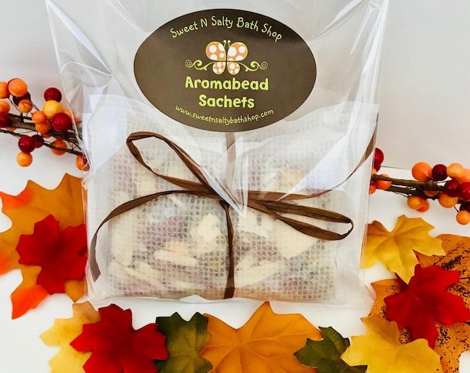 Autumn Scents Aroma Bead Drawer Sachet 3Pk