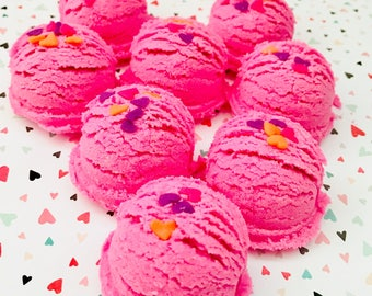 Pink Sugar Bath Truffles Set of Four