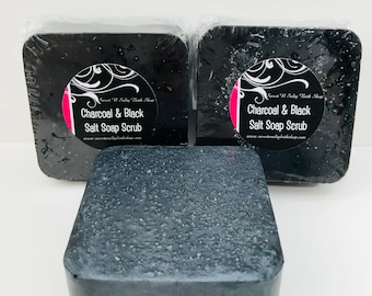 Activated Charcoal & Hawaiian Black Salt Soap Scrub