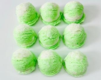 Coconut Lime Sea Salt Fizzing Bath Scoops