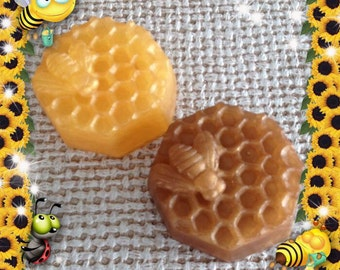 Set of Two Sweet Honeybee Scented Soap