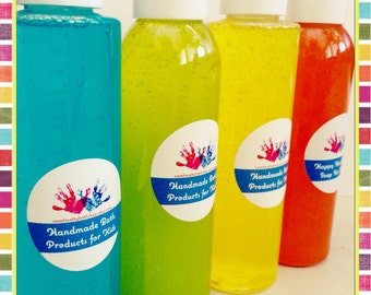 Fun Scents Bath and Body Wash for Kids-You Choose the Scent/Bubblegum/Cotton Candy/Strawberry/Wattermelon and More!