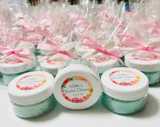 Sugar Scrub 2oz Personalized Baby/Bridal Shower Favors