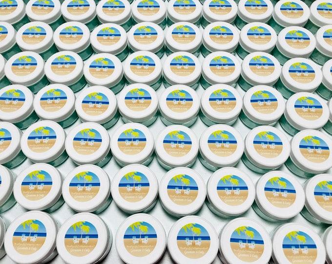 Personalized Sea Salt Scrub 2oz Bridal/Baby Shower Favors