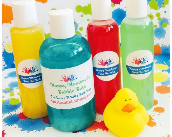 Fun Scents Happy Handmade Bubble Bath for Kids-You Choose the Scent/Bubblegum/Blue Raspberry/Cotton Candy/Cherry and More!