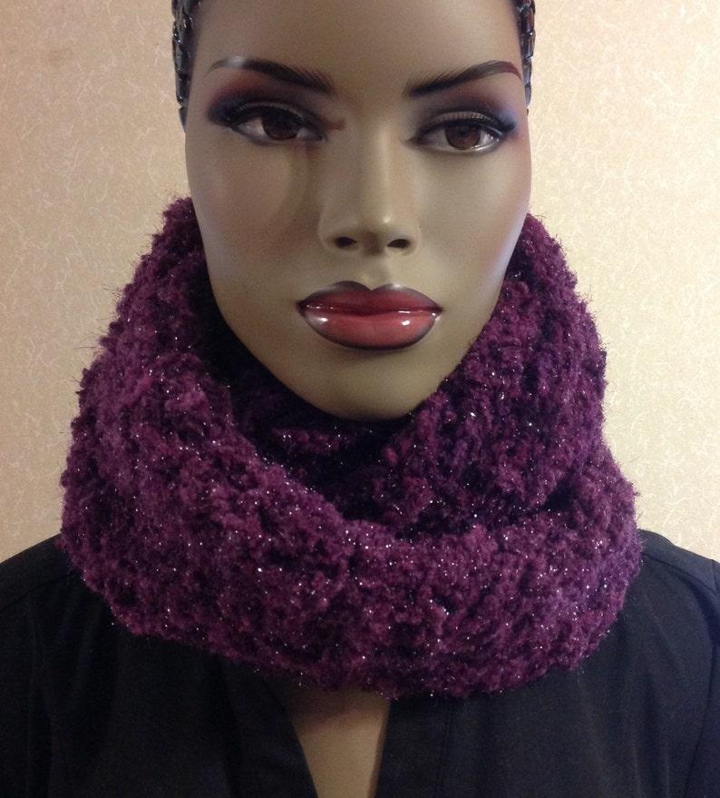 Scarf/Mother's day gift/handmade/Crochet infinity image 0