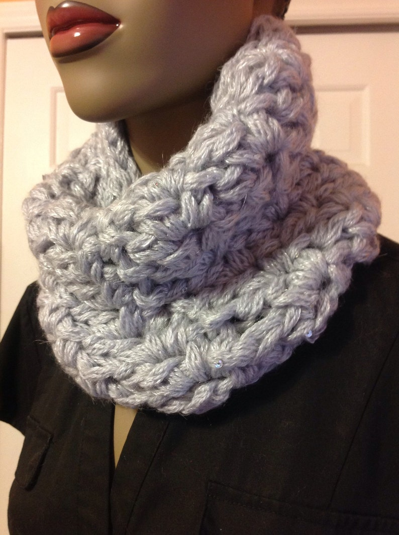 Scarves/cowl/sequin cowl/cuff/Mother's Day image 0