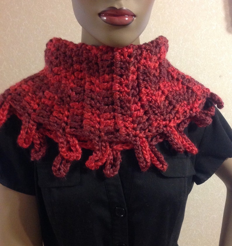 Crochet Scarf/cowl/neckwarmer/Mother's Day gift/circle image 0