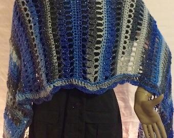 Crochet shawl/crochet scarf/gift for her/wrap/ clothing/handmade/women accessories /romantic shawl/women''s shawl/cape/christmas gift/scarf
