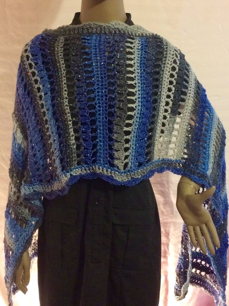 Crochet shawl/crochet scarf/gift for her/wrap/ image 0