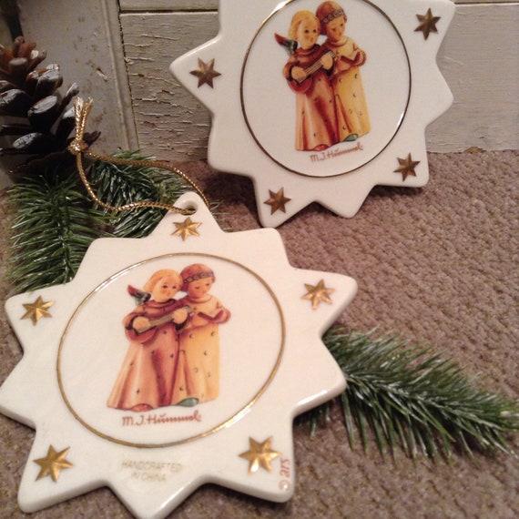 Hummel Christmas Ornaments.Hummel Christmas Ornaments Angels Singing With Banjo M J Hummel Ornaments