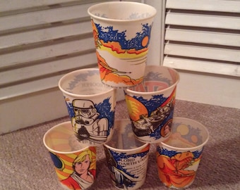 Star Wars Cups -1980 Dixie Cups - Six Unused Cups
