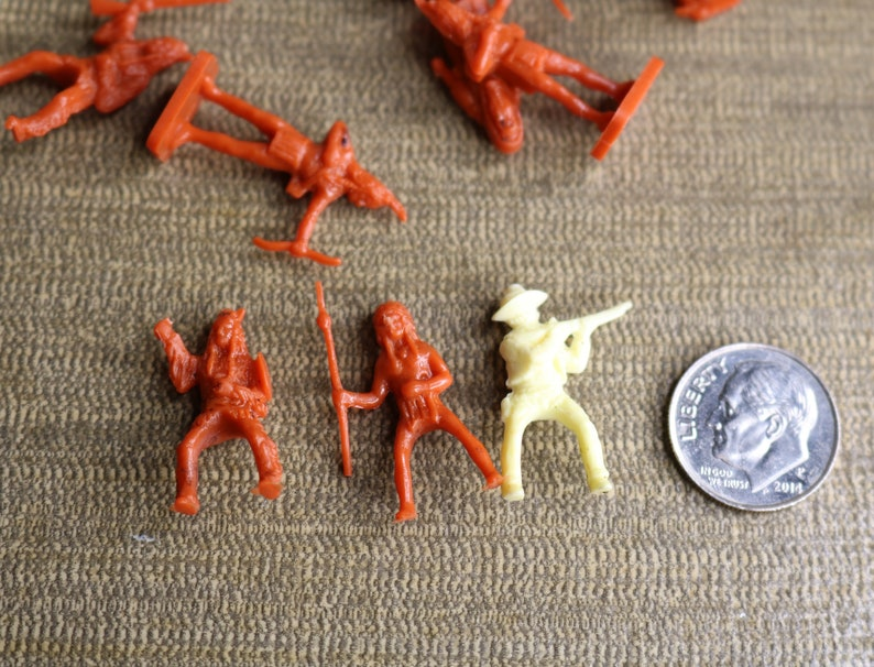 Vintage Wilton Miniature Cowboys and Indians Vintage Cowboy and Indians Cake Toppers Native American Cake Toppers 1 Inch 26 Pieces