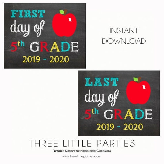 graphic relating to First Day of 5th Grade Printable referred to as Initial Working day of College or university Indication, 5th Quality 8x10, Fast Obtain