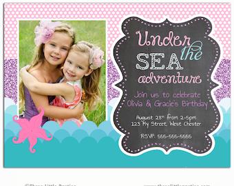 Under The Sea Invitation - Mermaid Invitation - Under The Sea Party - Printable Under The Sea - Printable Birthday Invitation