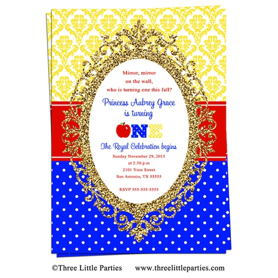 image about Snow White Invitations Printable referred to as Apple Snow White Invitation - Snow White Birthday Consider
