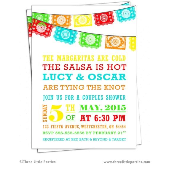 a6aaf1a9e7f1 Mexican Fiesta Invitation Papel Picado Bunting Bridal Shower