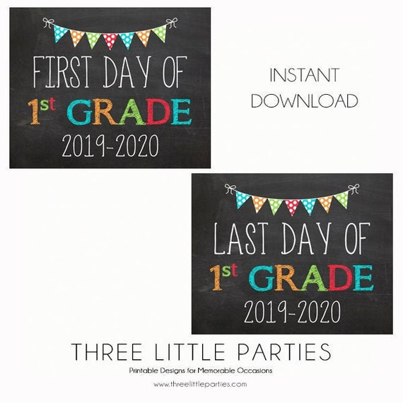 picture relating to First Day of 1st Grade Printable Sign referred to as Initial Working day of College Signal, Initial Quality 8x10 Prompt Obtain
