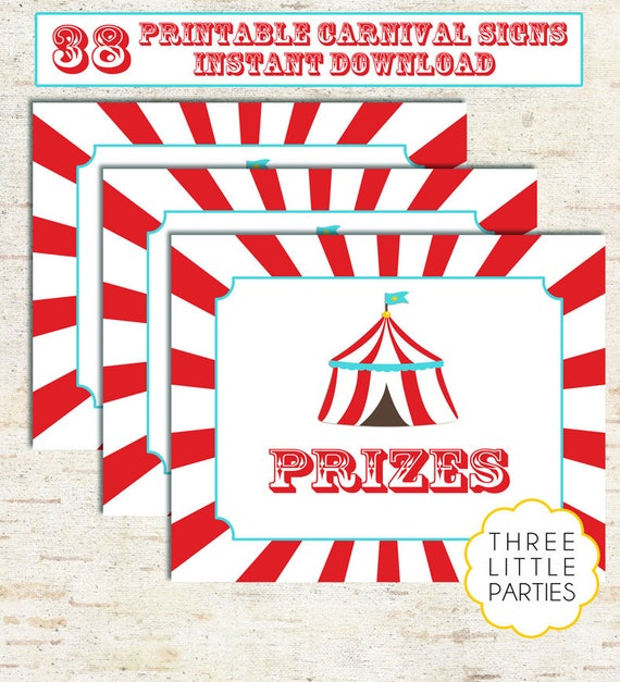 photo relating to Free Printable Carnival Signs named Carnival Indications, Circus Symptoms, 38 Immediate Down load Printable