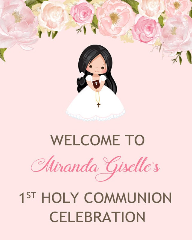 First Holy Communion Welcome Sign - Communion Door Sign