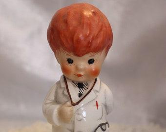 "Vintage Goebel Hummel Figurine Doctor titled ""Trouble Shooter"" BYI 67, 1970, West Germany"
