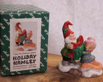 Fitz And Floyd Holiday Hamlet Enchanted Forest Collection Squirrel Family 19738