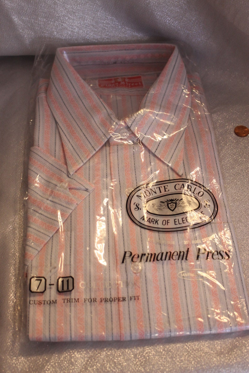 Mens SS Vintage Monte Carlo Shirt in the Original Package Size XXL 18-18 12