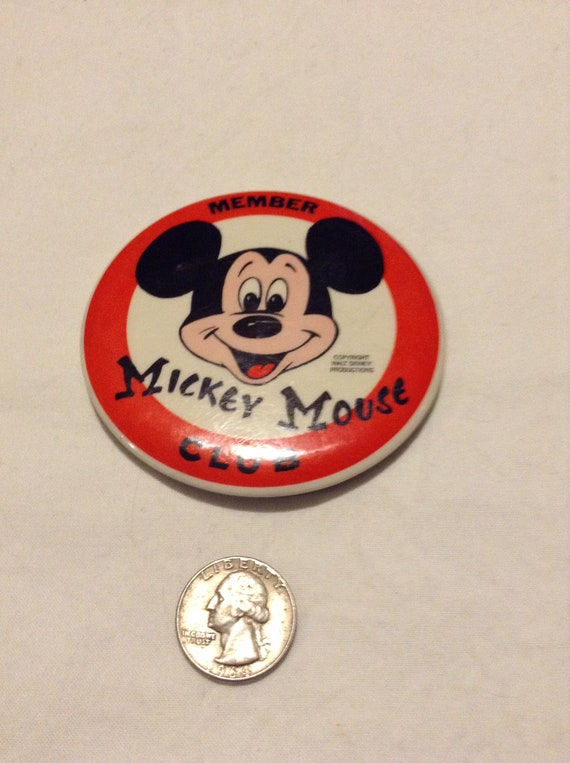 Vintage Miniature Mickey Mouse Pinback Pin