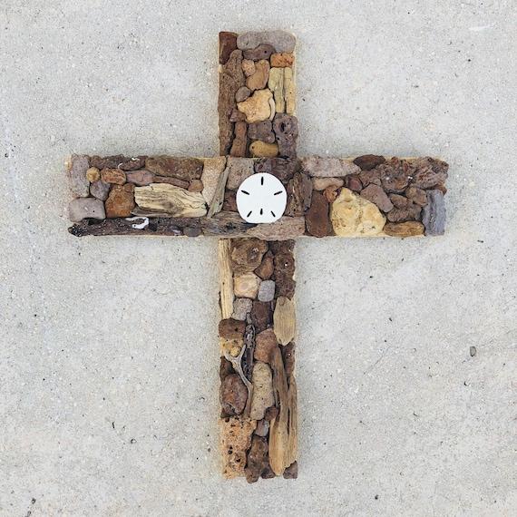 Driftwood Cross Wall Hanging Wooden Cross Reclaimed Wood Art Driftwood Art Cross Art Driftwood Wall Art