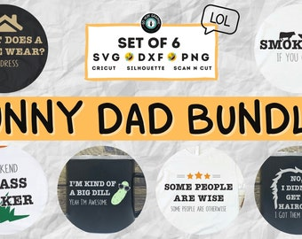 Funny Dad Puns SVG Design Bundle | SVG Cut Files for Cricut Silhouette Scan N Cut | Digital Download
