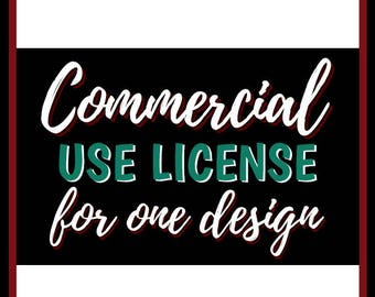 Commercial Use License for Single Design   Cutting & Printing Files   svg   eps   png   dxf   pdf   psd   ai   jpg