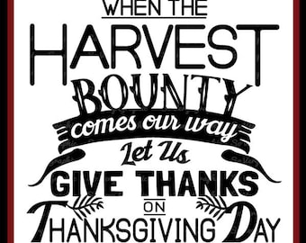 Let Us Give Thanks   Cutting File   Printable   svg   eps   dxf   png   Thanksgiving   Harvest   Bounty   Vintage   Farmhouse Sign