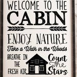 Welcome to the Cabin   Cutting File   Printable   svg   eps   dxf   png   Vinyl Wall Decal Design   Home Decor   Stencil   Woods   Camping