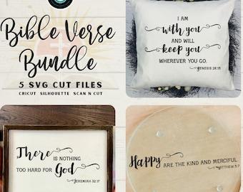 Bible Verse SVG Design Bundle | SVG Cut Files for Cricut Silhouette Scan N Cut