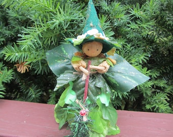 Forest Fairy Witch, Kitchen Witch Fairy, Fairy Garden Witch in the Woods, Garden Witch, Fairy Decor, Witchy Decor, Corn Doll Witch Fairy,
