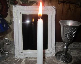 Scrying Mirror, Magic Mirror, Psychic Awareness Mirror, Altar Tools, Meditation Mirror, Pagan Decor, Home Decor, Vintage Gazing Mirror