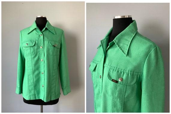 1970s Vintage Lee Green Jean Jacket