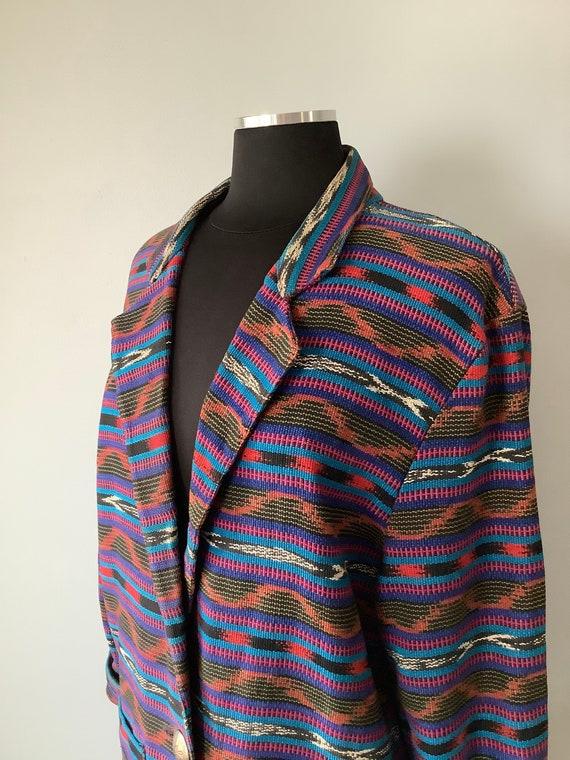 1980s Vintage Southwestern Oversized Blazer - image 5
