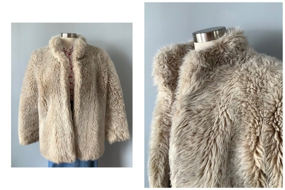 1970s Vintage Faux Fur Teddy Bear Coat