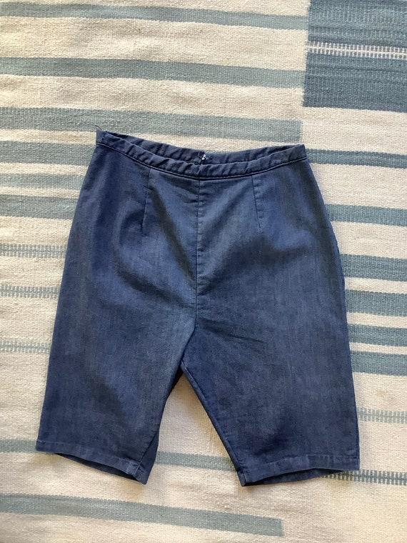 1950s Vintage Denim Shorts - image 3