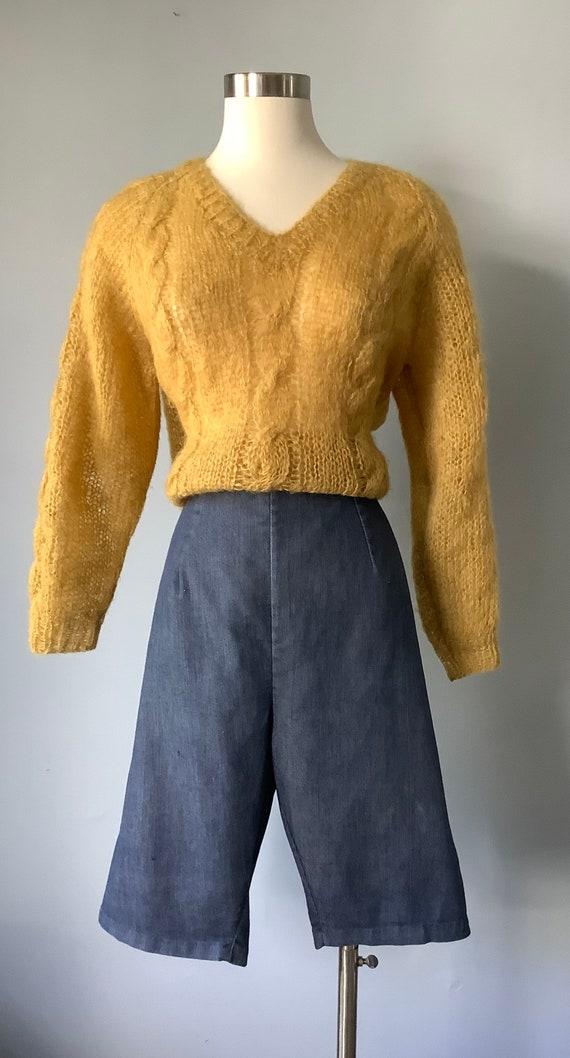 1950s Vintage Denim Shorts - image 2