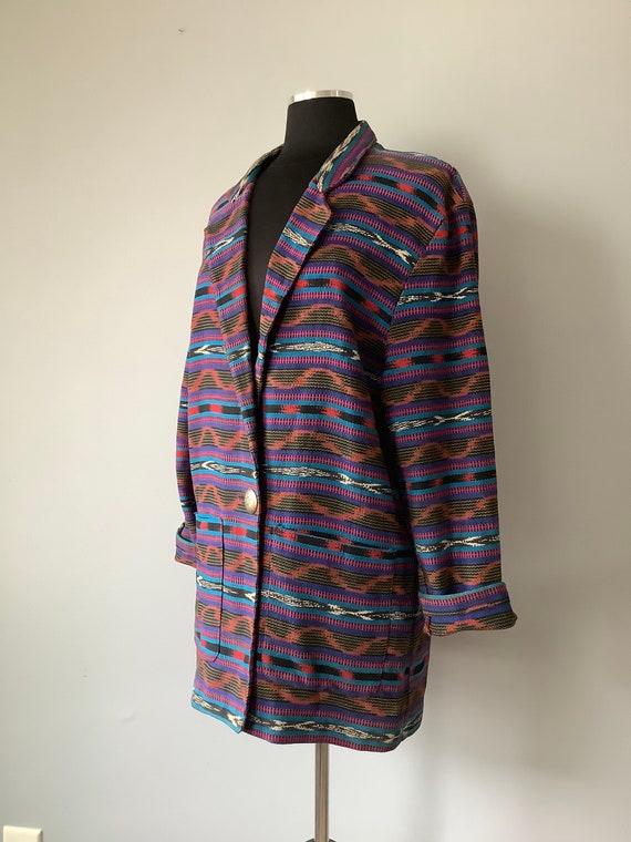 1980s Vintage Southwestern Oversized Blazer - image 4